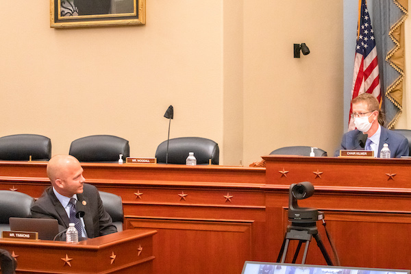 Image 10.4: Rep. William Timmons speaks to Chair Derek Kilmer during the Select Committee's final business meeting